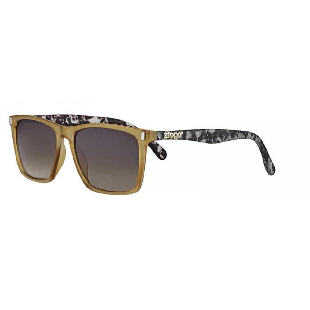 Очки солнцезащитные ZIPPO, бежево-серые, оправа, линзы и дужки из поликарбоната OB61-01