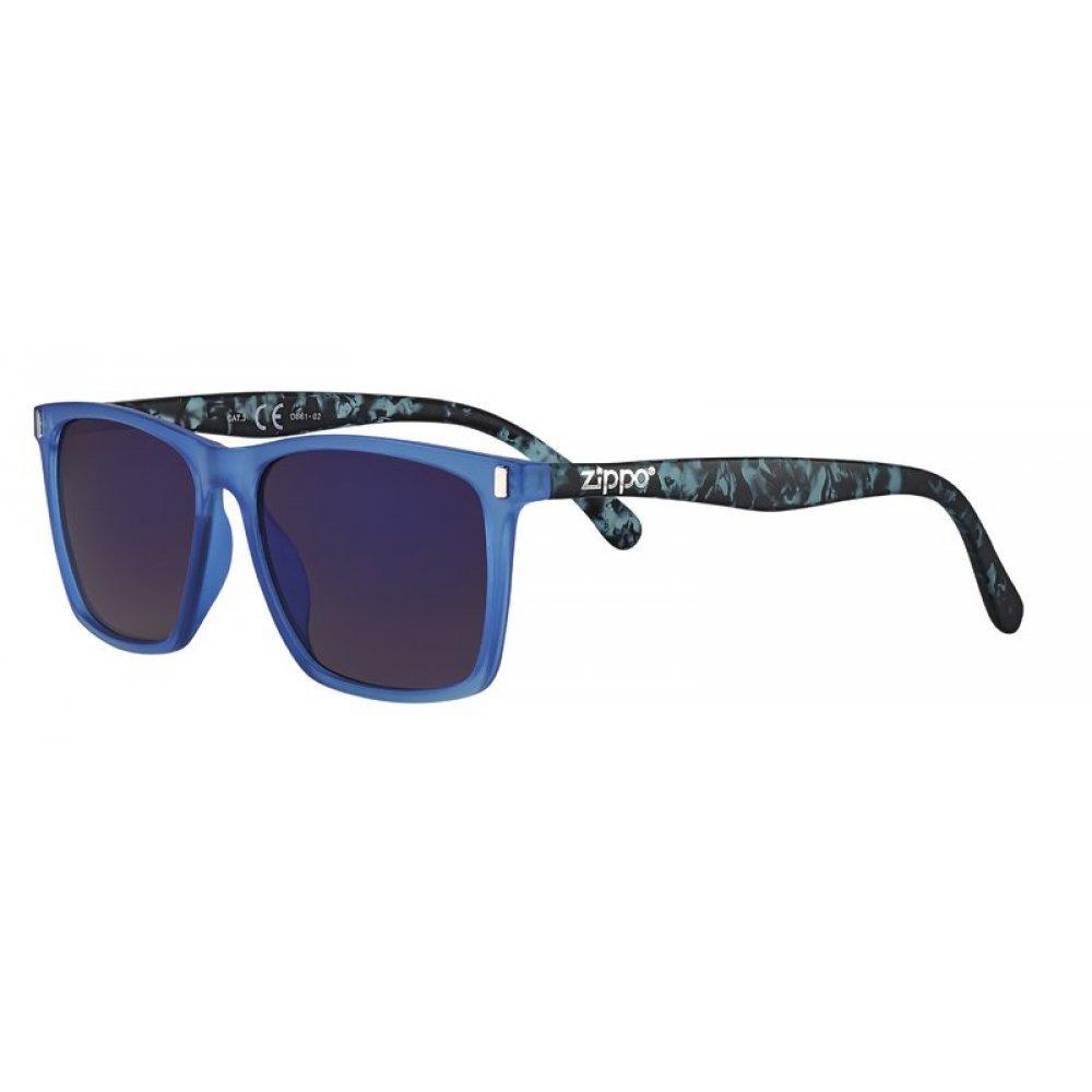 Очки солнцезащитные ZIPPO, синие, оправа, линзы и дужки из поликарбоната OB61-02