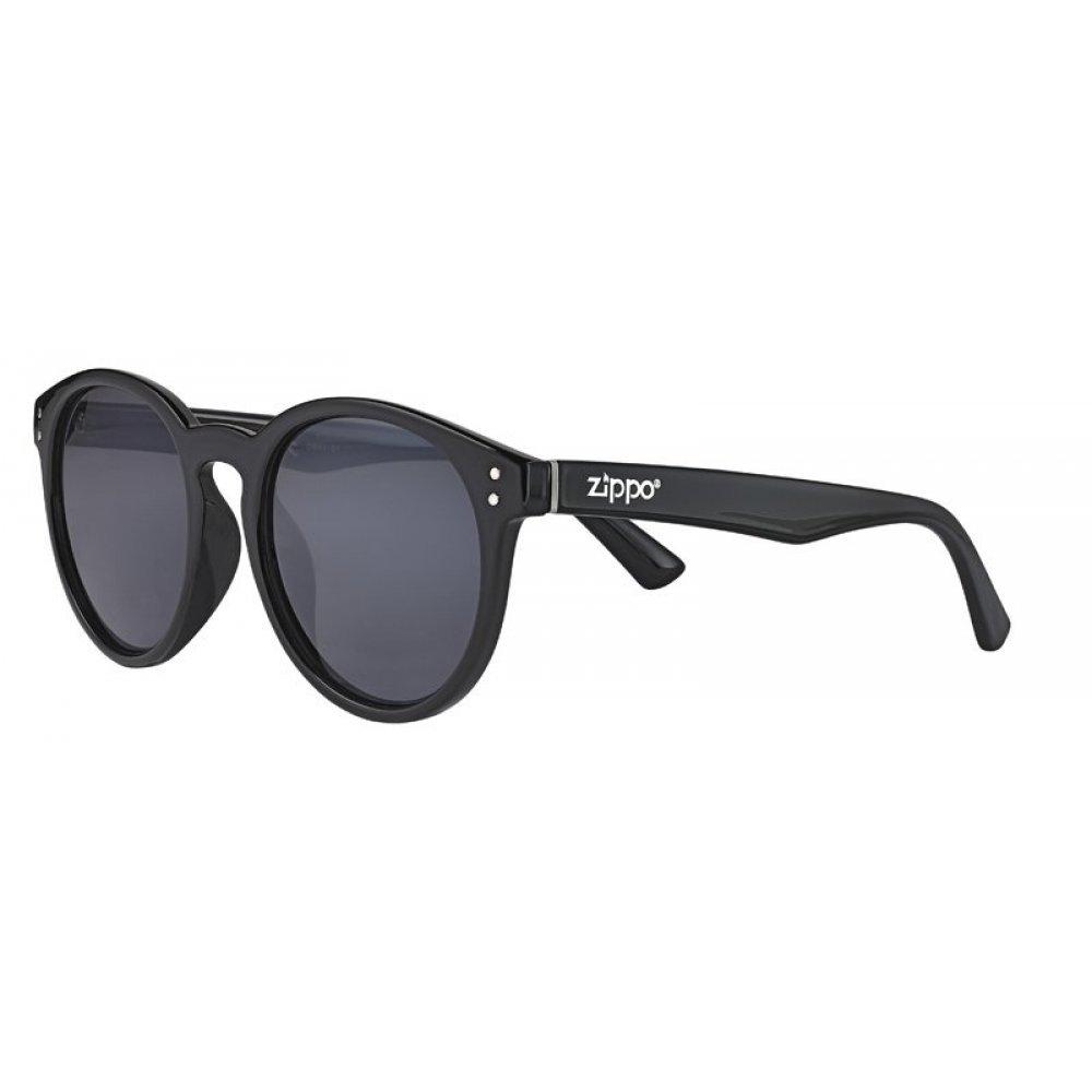 Очки солнцезащитные ZIPPO, чёрные, оправа, линзы и дужки из поликарбоната OB65-01