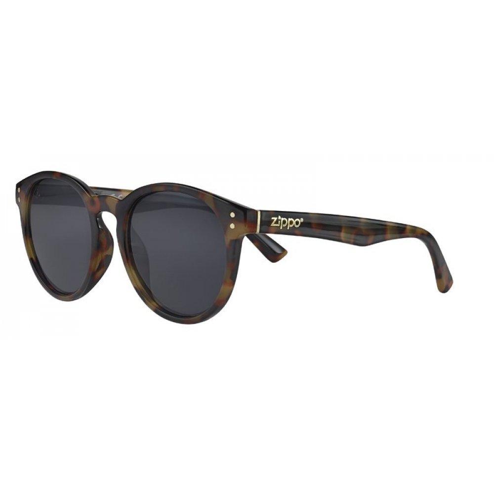 Очки солнцезащитные ZIPPO, коричневые, оправа, линзы и дужки из поликарбоната OB65-04