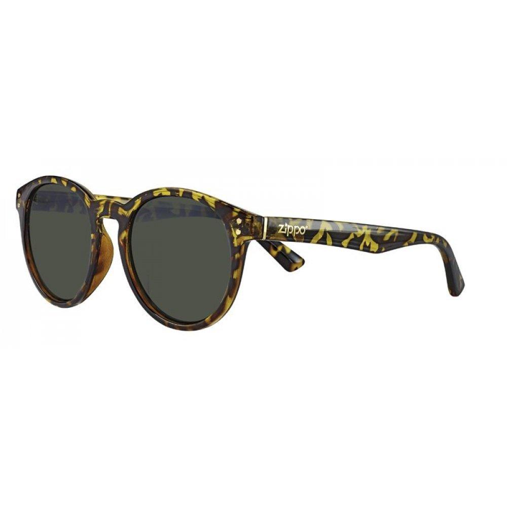 Очки солнцезащитные ZIPPO, жёлто-коричневые, оправа, линзы и дужки из поликарбоната OB65-05