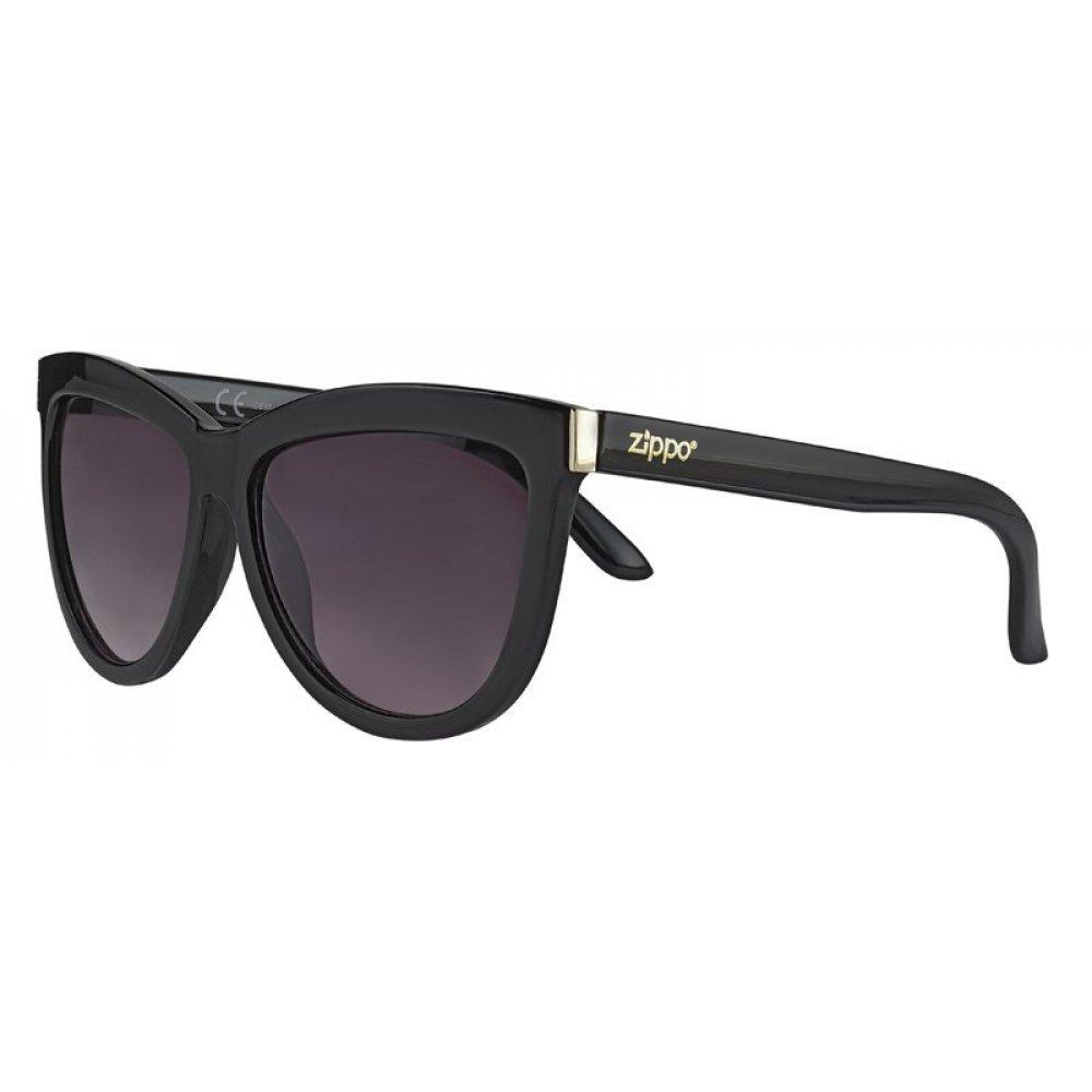 Очки солнцезащитные ZIPPO, чёрные, оправа, линзы и дужки из поликарбоната OB67-01