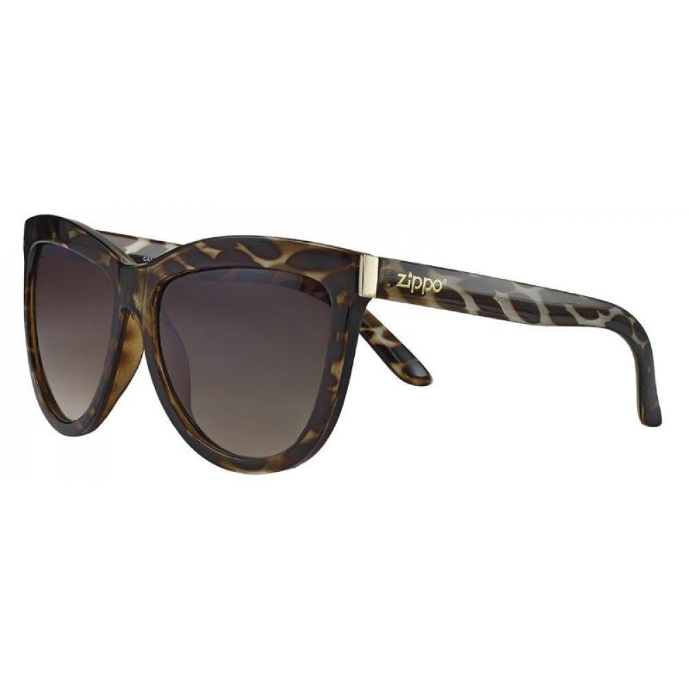 Очки солнцезащитные ZIPPO, жёлто-коричневые, оправа, линзы и дужки из поликарбоната OB67-02