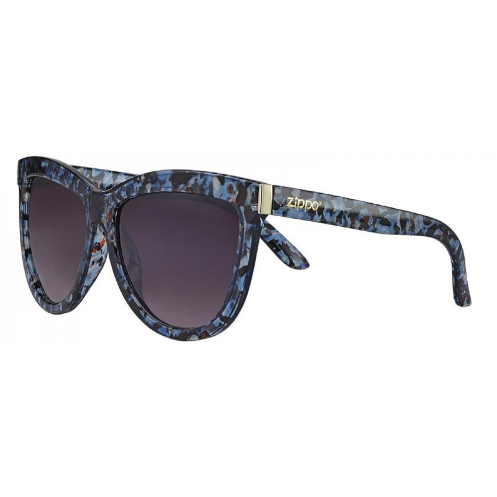 Очки солнцезащитные ZIPPO, синие, оправа, линзы и дужки из поликарбоната OB67-03
