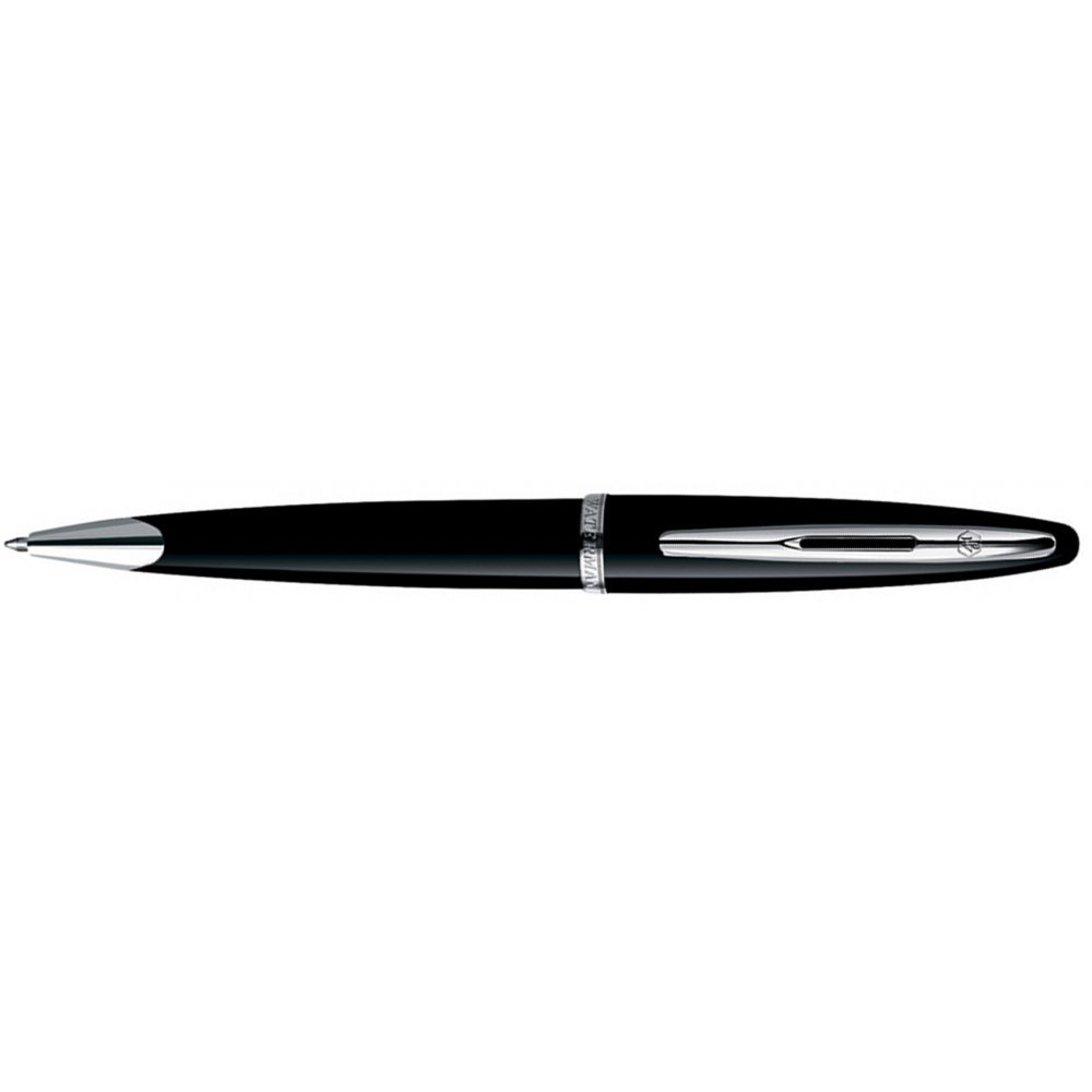 Шариковая ручка Waterman Carene Black Sea ST. Детали дизайна: посеребрение. S0293950