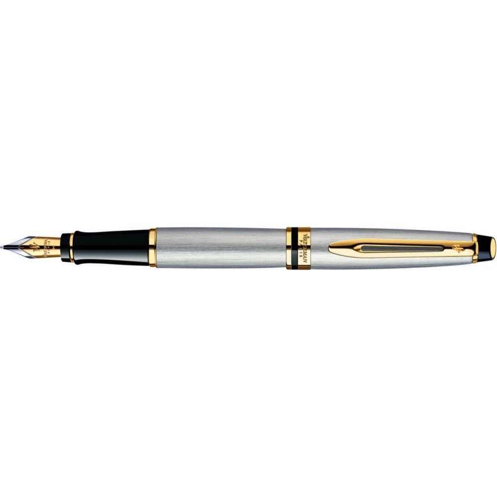 Перьевая ручка Waterman Expert Steal GT. Перо - нержавеющая сталь, детали дизайна: позолота 23К. S0951940
