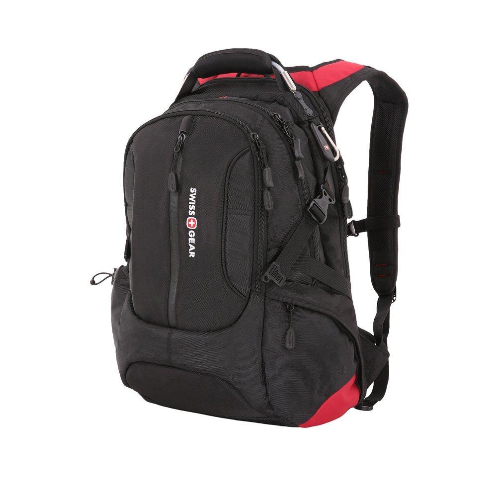 "Рюкзак SWISSGEAR, 15"", черный/красный, полиэстер 1200D, 36х17х50 см, 30 л SA15912215"