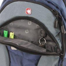 Рюкзак SWISSGEAR, 13, синий/серый, полиэстер, 35х15х46 см, 24 л SA16063415