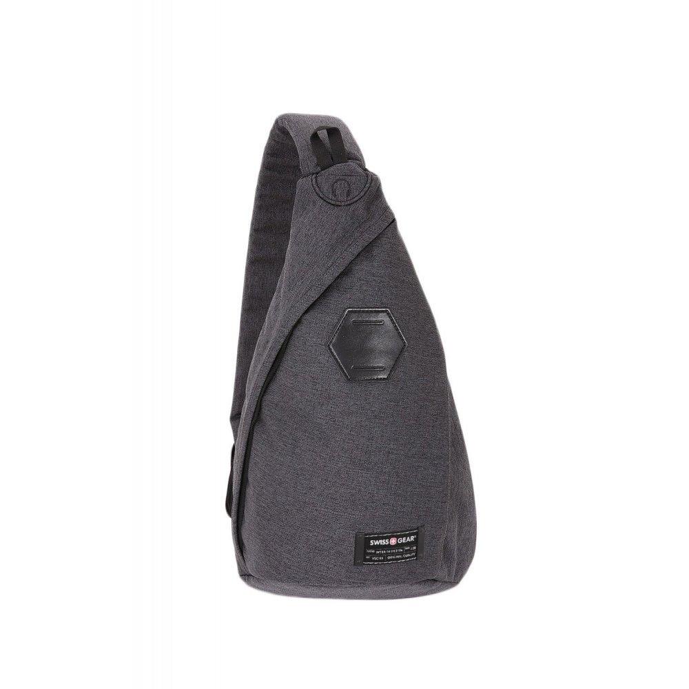 Рюкзак SWISSGEAR на одно плечо, cерый, ткань Grey Heather/ полиэстер 600D PU, 25х15х45 см, 7 л SA2607424550