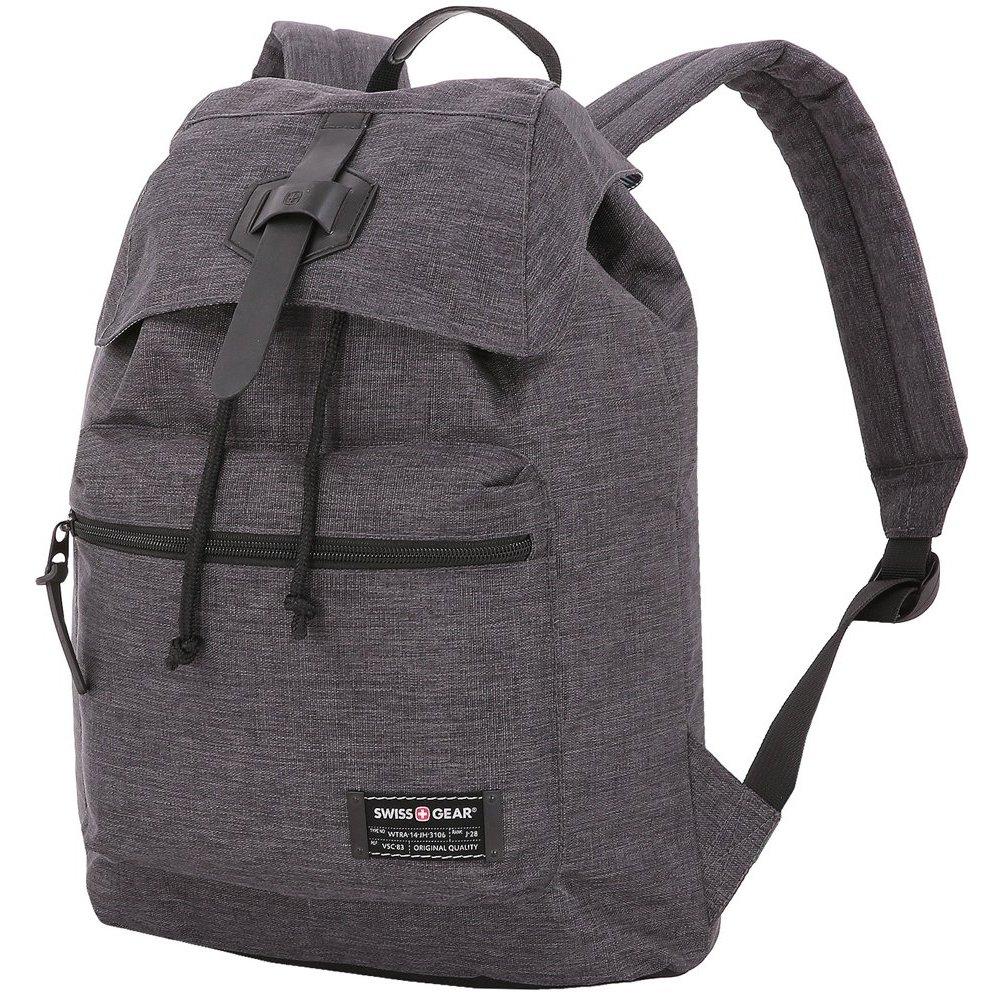 Рюкзак SWISSGEAR 13, cерый, ткань Grey Heather/ полиэстер 600D PU , 29х13х40 см, 15 л SA5331424403