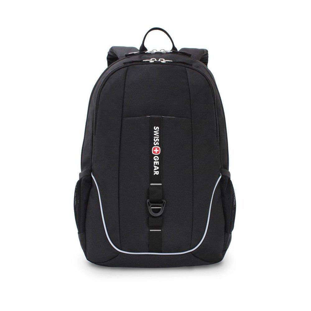 Рюкзак SWISSGEAR чёрный, полиэстер 600D, 33x16.5x46 см, 26л SA6639202408