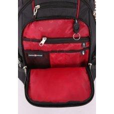 "Рюкзак SWISSGEAR, 15"", чёрный/красный, полиэстер 900D/М2 добби, 34x23x48 см, 38 л SA6677202408"