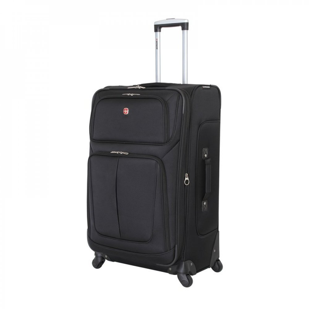 Чемодан WENGER SION, чёрный, полиэстер 750x750D добби, 46x29x80 см, 90 л WGR6283202181