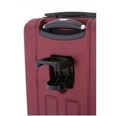 Чемодан WENGER VAUD, бордовый, с подставкой для кофе, АБС-пластик, 36 x 24 x 57 см, 38 л WGR6399131154
