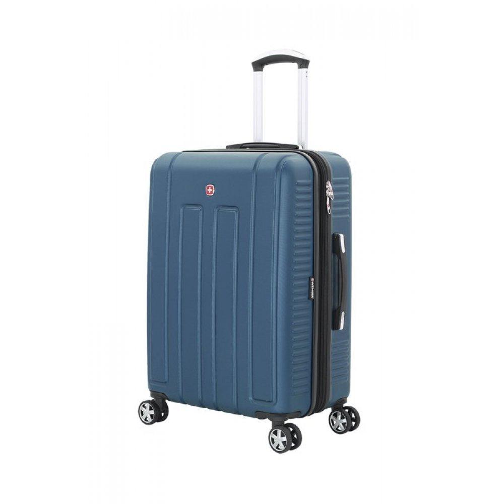 Чемодан WENGER VAUD синий, АБС-пластик, 46 x 28 x 67 см, 66 л WGR6399343167